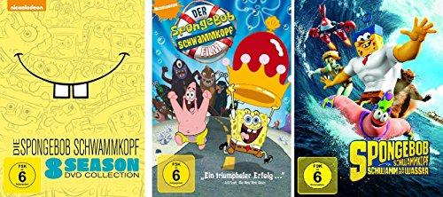 Spongebob Schwammkopf - 8 Season Collection Box + 2 Spielfilme ( der Film + Schwamm aus dem Wasser) im Set - Deutsche Originalware [29 DVDs]