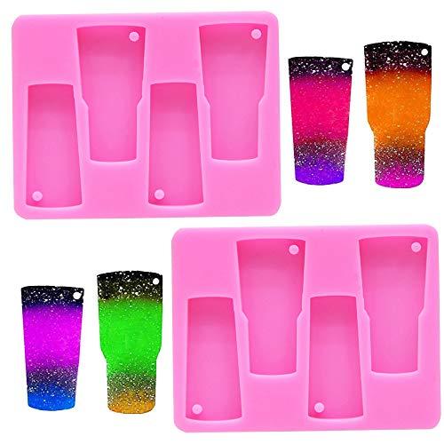 Nifocc - Moldes de silicona para vasos con agujero para hace
