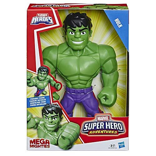 Playskool E4149ES0 Heroes Marvel Super Hero Adventures Mega Mighties Hulk, 25 cm große Actionfigur