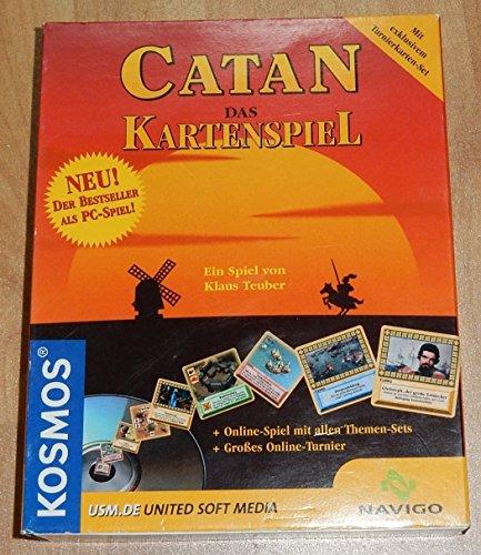 Catan : Das Kartenspiel als PC-Spiel ( offline und online - für Windows 98 / Me / 2000 ) [sn1o] (CD-Rom; mit exklusivem Turnierkarten-Set + Online-Spiel mit allen Themen-Sets + Großes Online-Turnier [falls noch laufend] )