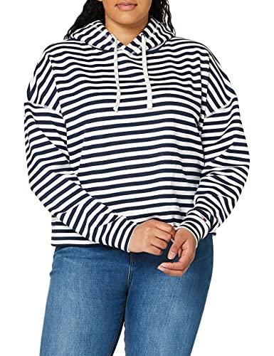 Tommy Jeans Dames Tjw Stripe Hoodie Vest, blauw (Twilight Navy/White 0ze), S