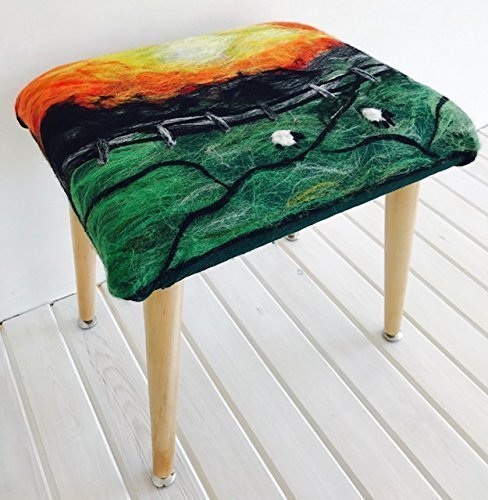 Unique Handmade Needle Felting Some Manufacturer regenerated product reservation Art R Foot Ottoman Stool