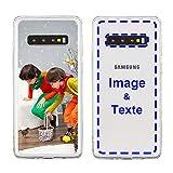 MXCUSTOM Coque Personnalisée Samsung Galaxy S10+ S10 Plus, Personnalisable avec Votre Propre Photo...