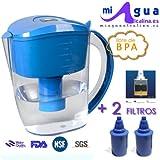 JARRA de agua alcalina MAA-HOME + 2 filtros + ¡Medidor de pH GRATIS!