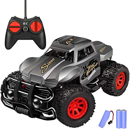 Remote Control Car - Durable Non-Slip Off-Road Shockproof RC Racing Car (Gray) RC Toys Car for Kid 3 4 5 6 7 8 9 Year Old Boys and Girls Best Gifts
