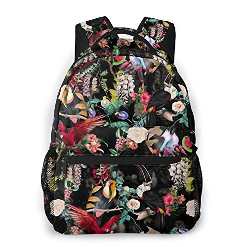 Floral And Birds Ix Backpack Men'S And Women'S Daypack Casual Bookbag Girls And Boys Best Schoolbag
