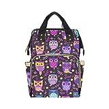 Cute Owls Vector Seamless Customized Paper Bag Backpack Mom Dad Changing Large Capacity Multi-function Printed Bag Mochila para bebé niña niño