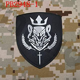 Patches 3D PVC Patch Medal of Honor Warfighter Russia Spetsnaz ALFA Group Rubber Patch - (Color: PB2948 White)
