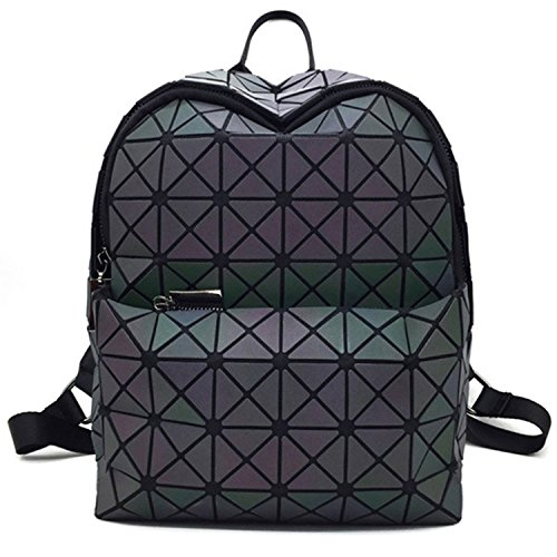 Geometric Backpack Holographic Reflective Backpacks Fashion Backpack