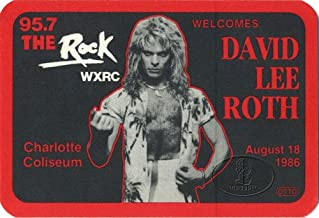 David Lee Roth 1986 Promo Backstage Pass Van Halen Charlotte