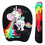 Funny Rainbow Unicorn Mouse pad and Keyboard with, Rainbow Unicorn, Size No Size