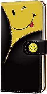 HUAWEI P20 Pro (HW-01K) PU手帳型 カードタイプ [チャックsmile・イエロー] ウインク にこちゃん ピートゥエンティプロ スマホケース 携帯カバー [FFANY] nico-083@01c