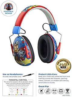 Paw Patrol Kids Ear Protectors Earmuffs Toddler Ear Protection and Headphones 2 in 1 Noise Reduction + Headphones for Kids Ultra Lightweight Adjustable Safe Sound Great for Concerts Shows and More