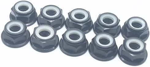 20 Pcs M5 Nuts Flanged Nylon Lock Nut Nylock Self-Lock Aluminum Nuts (Black)