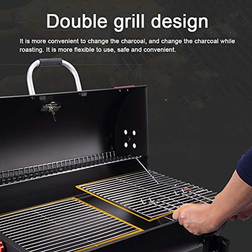 51uLByFpYFL - DNNAL Großer Kohlegrill, Doppelseitiger Kochen im Freien Grill für Outdoor-Camping-Patio Hotel Villa Commercial (mit Grill-Zubehör)