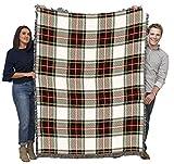 Plaid - Stewart Dress Tartan - Cotton Woven Blanket Throw - Made in The USA (72x54)