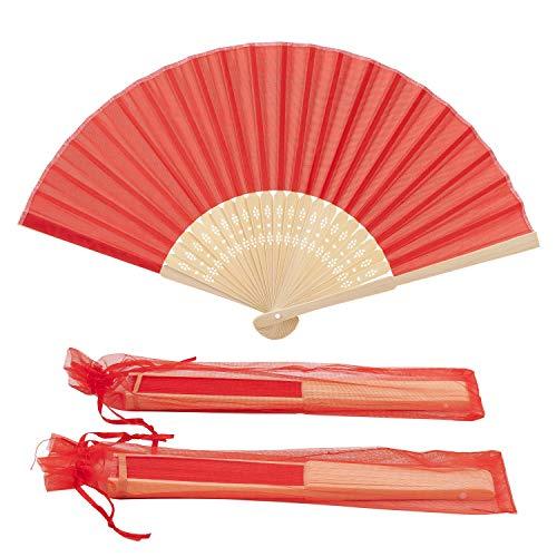 Silk Wedding Hand Fan - 9