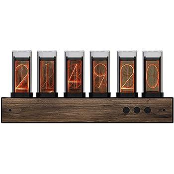 GIXIE CLOCK ニキシー管時計グローチューブ時計居間寝室書斎店の窓LEDデジタル時計Steins; Gate ダイバージェンスメーター ホリデーギフト