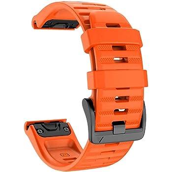 Silicone Gel Wrist Band Replacement Strap for Garmin Fenix Quatix Bracelet