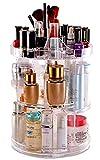 Deco Express Make-up-Organizer für Schmuck, Kosmetika und Parfüm, 360 Grad drehbarer Präsentationsständer mit 8 Ebenen, Stauraum für Kommode, Schlafzimmer oder Badezimmer