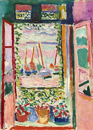 Henri Matisse 'Het open raam, detail', 1905, 250gsm Zacht-Satijn Laagglans Reproductie A3 Poster