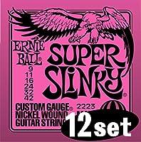 ERNIEBALL アーニーボール エレキギター弦 #2223 スーパースリンキー x 12セット