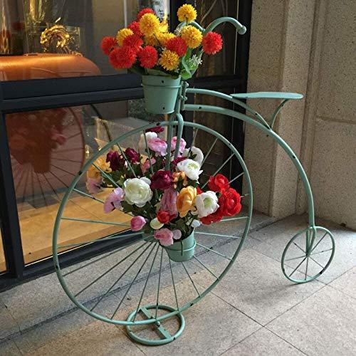 aasdf Soporte para Plantas de Metal para Interiores y Exteriores, macetero, Soportes para Bicicletas, macetero de Hierro Forjado, Soporte para Flores, Soporte de exhibición, decoración de Patio