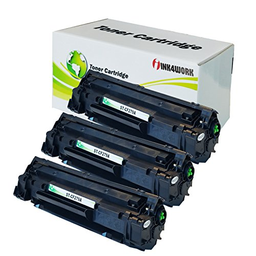 INK4WORK Compatible Toner Cartridge Replacement for HP CF279A 79A use with Laserjet Pro M12a M12w MFP M26a M26nw Printer (Black, 3-Pack)