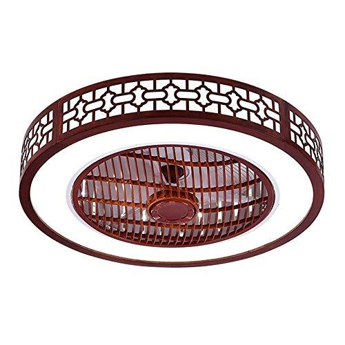 Deckenventilator mit Beleuchtung, Eiche Fan Deckenventilator LED Licht, Einstellbare Windgeschwindigkeit, Dimmbar mit Fernbedienung, Deckenleuchte led Deckenlampe für Schlafzimmer Wohnzimmer