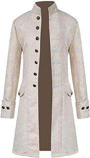 ITISME Giacca Uomo Steampunk Invernale Elegante Vintage Pulsante Cappotti Lunghi Manica Lunga Calda Taglie Forti Slim Fit