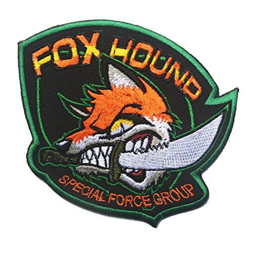 Patch Nation Foxhound Special Forces Group Crazy Fox Gestickte Airsoft Klettverschluss-Flecken