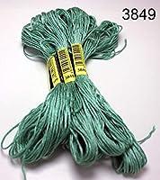 10個ステッチスレッド/ステッチ刺繍スレッド/カスタムスレッドカラー12 liaodongqinribeng (Color : 3849, Size : 6 Strands)