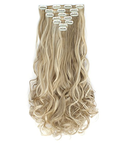 """OneDor 20"""" Curly Full Head Clip in Synthetic Hair Extensions 7pcs 140g (16H613)"""