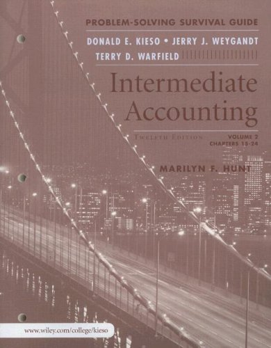 Intermediate Accounting, Volume 2, Problem Solving Survival Guide