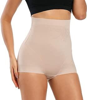 WOWENY High Waist Tummy Control Panties for Women Boyshorts Underwear Waist Cincher Body Shaper Seamless Shapewear Briefs