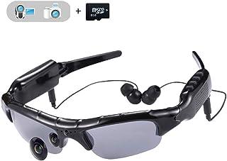 427783f55c WOTUMEO Multifuncionales Gafas De Sol MP3 Mini DV DVR De La Cámara De Vídeo  Espía De