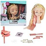 CGH Cute Girls Hairstyles! Styling Head - Straight Blonde Hair Doll