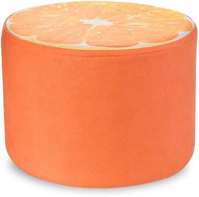 Carl Artbay Wooden Footstool Orange Style Household Creative Children Stool Linen Stool Sets Home