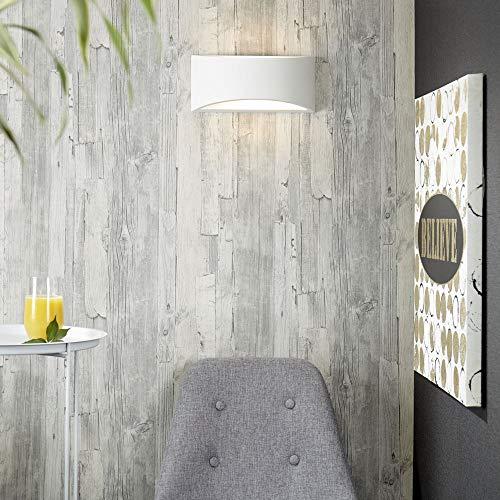 Applique murale Plâtre Matthias Intensité variable demi-lune Up Down Lampe murale Blanc E14 Lampe Couloir lampe recouvrable