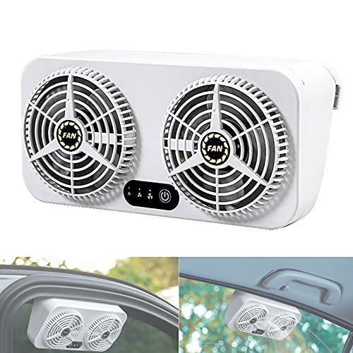 wansosuper Ventilador del Coche, Herramienta De Enfriamiento De Carga USB De Doble Uso para El Coche Doméstico, para La Circulación De Aire del Coche
