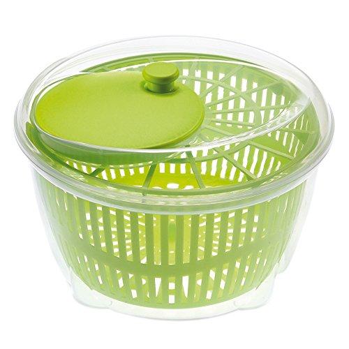 Große Salatschleuder, Gemüse und Blätter-Trockner, Abtropffläche, Sieb, Kunststoff-Schüssel