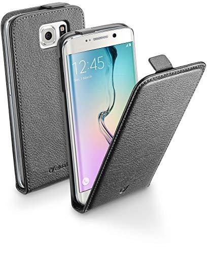 Cellular Line CFLAPESSGALS6EK Schutztaschen aus Ökoleder mit Klappe fur Samsung Galaxy S6 Edge