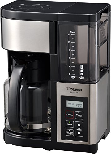 Zojirushi EC-YGC120 Coffee Maker, 12-Cup, Stainless Black