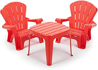 Little Tikes Garden Table and Chairs Set, Red