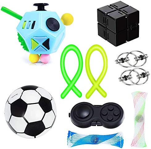 Lvoess Fidget Toys Set Stress and Anxiety Relief Sensory Fidget Cube 10 Pack for Kids and Adults product image