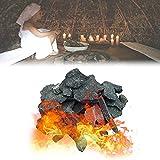 YHWD Piedra para Calentador de Sauna Piedra de Sauna, 16-18 kg / 35-40 LB Piedra volcánica de Sauna para Cuencos de Fuego, fogatas y chimeneas de Interior o Exterior o Estufa de Sauna