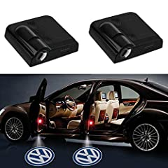 2PCS car door logo lights with sensor function. Powered by 3PCS AAA batteries(not included) Easy to install. No need to drill hole. Just stick the light lamp on the door panel and stick the magnet on the bottom of the car frame. No harm to car. The d...