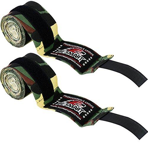 Hand-Bandagen, Boxhandschuhe aus Baumwolle, für MMA, damen Herren Kinder, grün camo