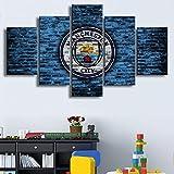 Manchester City Flag Poster HD 5 Stück Fußball Leinwand