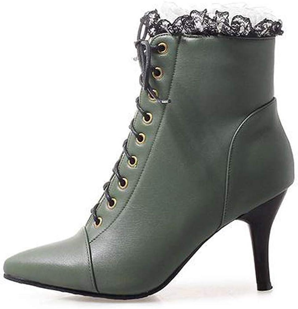 Getmorebeauty Women's Stiletto High Heel 正規品スーパーSALE×店内全品キャンペーン Boots Dre 超安い Grace Lace Up